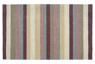 Plum/Multi Striped Rug | Travista Design